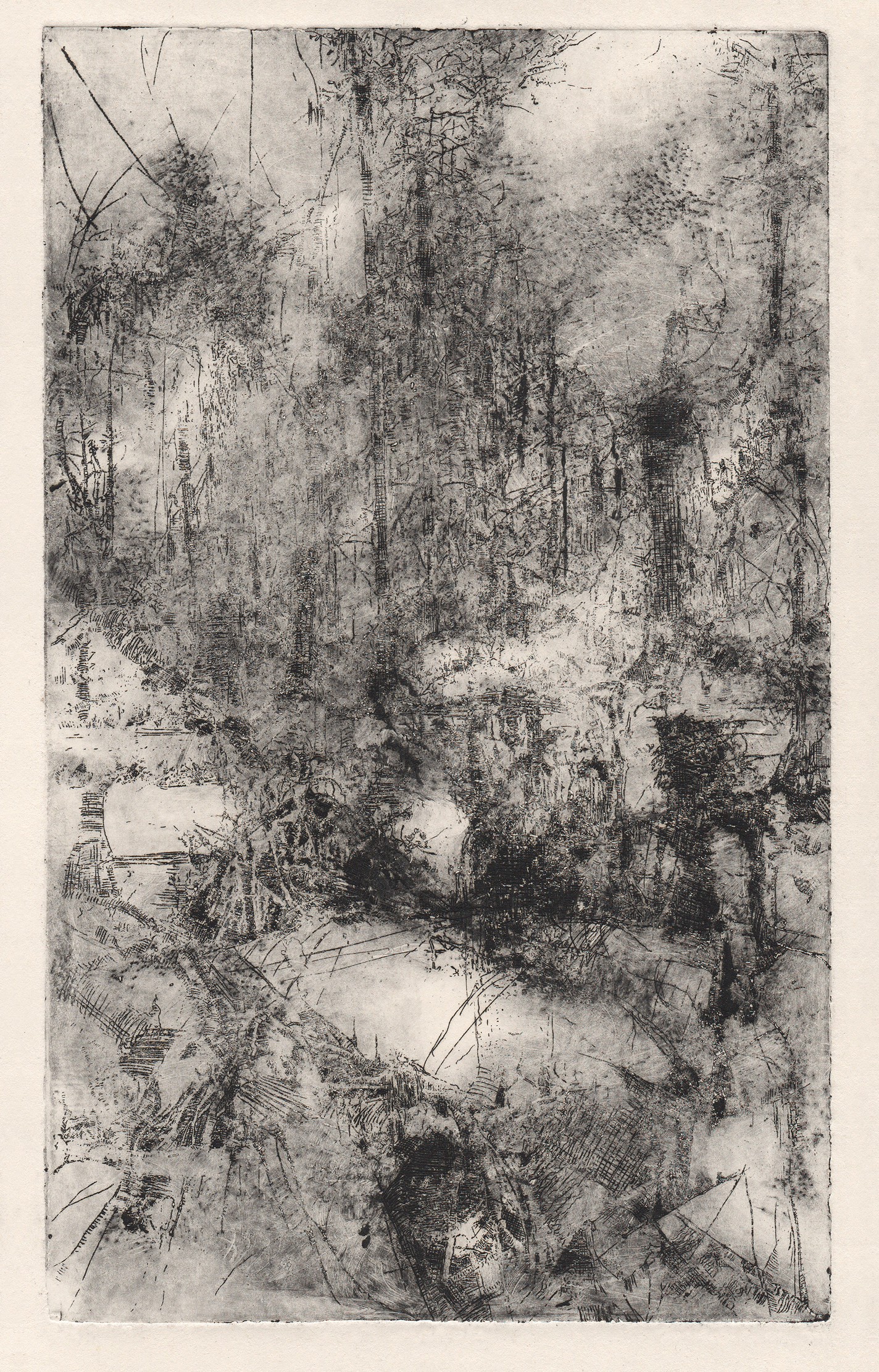 Dead Marshes I, etching.