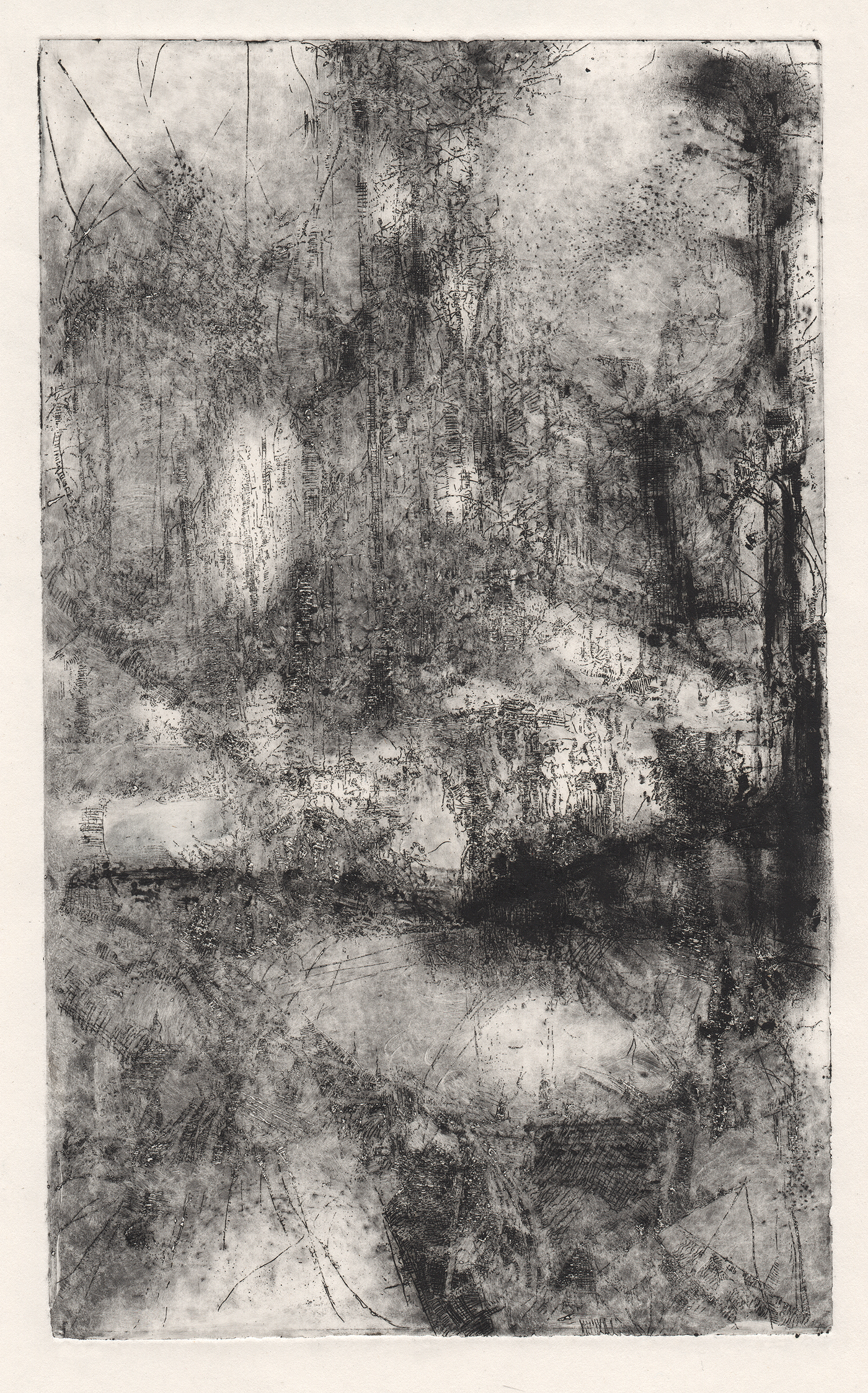Dead Marshes II, etching.